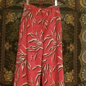 House of Harlow x Revolve Red Silky Pant Set
